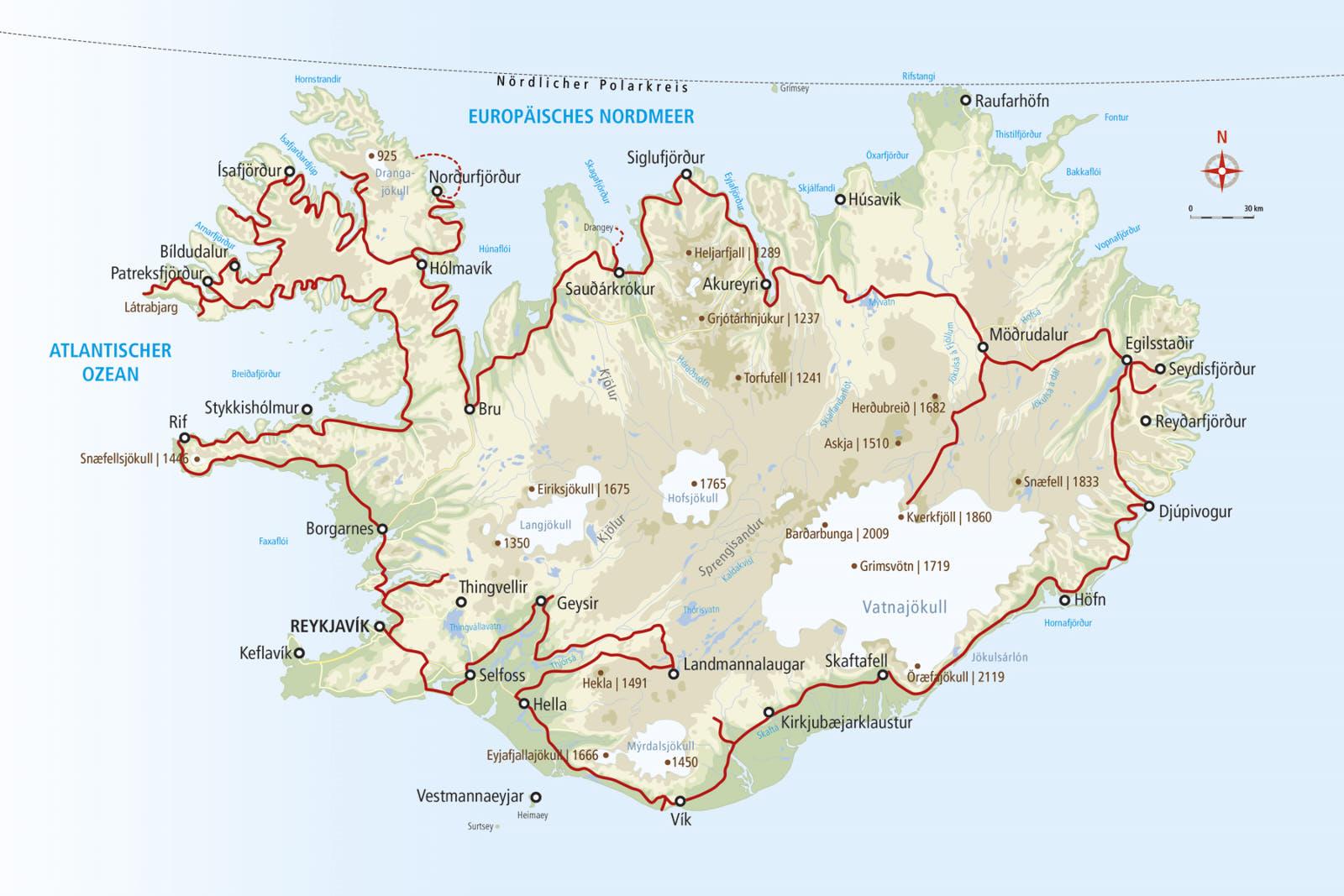 3d Relief Karte Island 39 X 29cm 3d Lander Und Regionen 3d